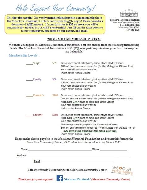 2019 MHF membership application