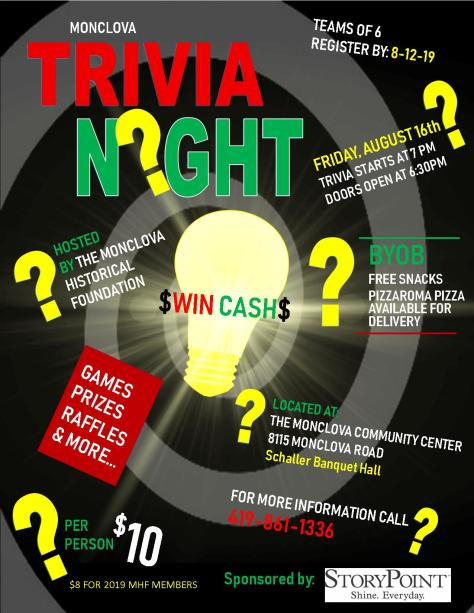 Trivia Night Flyer AUGUST 2019